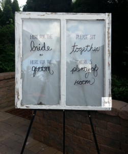 NJ Wedding, Seating Sign, Stone House at Stirling Ridge, Real Weddings